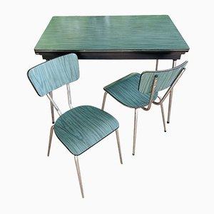 Italian Kitchen Table Set, 1960s, Set of 3