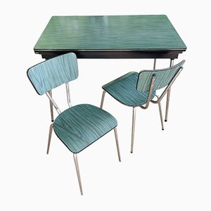 Italian Kitchen Table Set from Salvarian 1960s, Set of 3