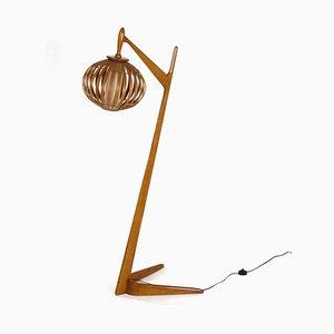 Organic Floor Lamp in Bent Birch Wood, 1960s