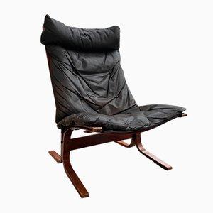 Brauner Leder Siesta Sessel