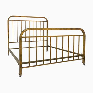 Art Deco French Brass Daybed, 1930s