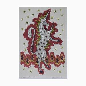Jean Picart, Le Doux Unicorn Lithograph, 1964