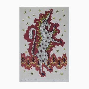 Litografía Jean Picart, Le Doux Unicorn, 1964