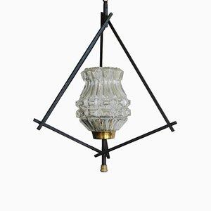 Mid-Century Tripod Pendant Light with Metal Frame