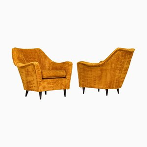 Italian Armchairs in the Style of Ico Parisi, Italy, 1950s, Set of 2