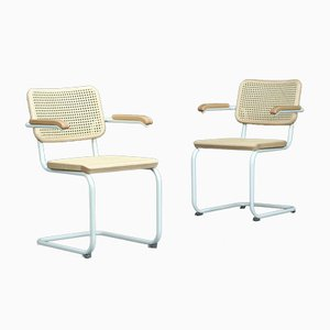 S64 V Bauhaus Armchair in White from Thonet