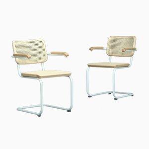S64 V Bauhaus Sessel in Weiß von Thonet