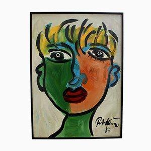 Young Man With Blonde Hair, Peter Robert Keil, 1983, Öl an Bord