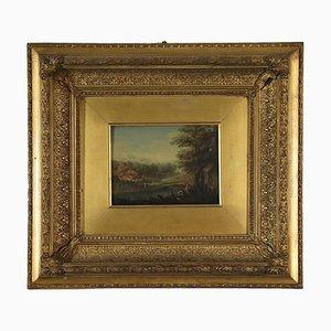 Canvas Landscape with Figures