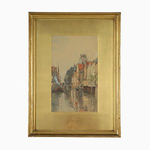 Watercolor on Paper by Wilfred William Ball