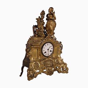 Orologio da appoggio in bronzo dorato