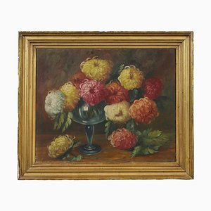 Floral Composition, Oil on Canvas