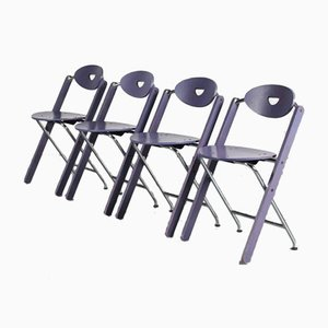 Folding Chairs by Ruud-Jan Kokke for Kembo, the Netherlands, Set of 4