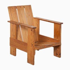 Pallet Pine Chair by Gerrit Thomas Rietveld