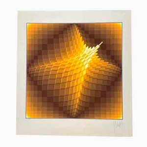 Yvaral (Jean-Pierre Vasarely), Lithograph Pyramid, 1974