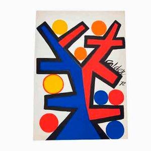 Alexandre Calder, Lithographie in Rot und Blau, 1972