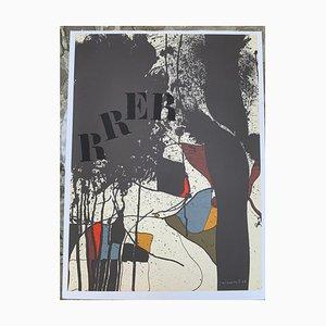 Josep Guinovart, Composition (Rrer) Lithograph, 1976