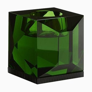 Handgeformter Ophelia Grüner T-Lampenhalter aus Kristallglas