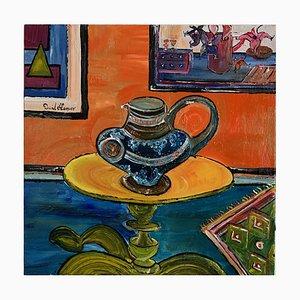David Harper Victorian Jug, Contemporary Expressionist Still Life Painting, 2021
