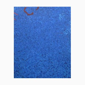 Phillip Alder, Blue Cascade, Contemporary Abstract Oil Painting, 2021