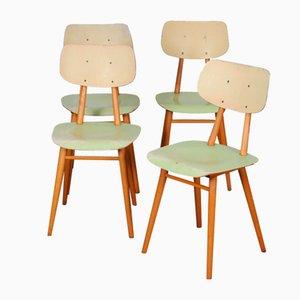 Vintage Holzstühle von Ton, 1960er, 4er Set
