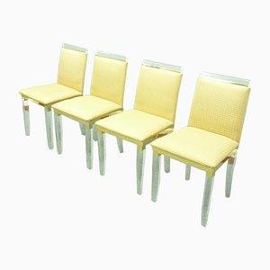 Regency Plexiglass Dining Room Chairs, 1970s, Set of 4