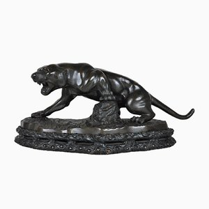 Early 20th Century Bronze Panther