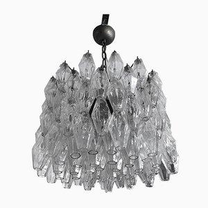 Polyedri Glas Kronleuchter von Carlo Scarpa für Venini, Italien, 1960er