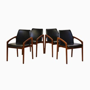 Danish Mid-Century Teak Model 23 Dining Chairs by Henning Kjærnulf for Korup Stolefabrik, Set of 4