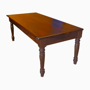 Large Pinewood Bistro Table, 1920s