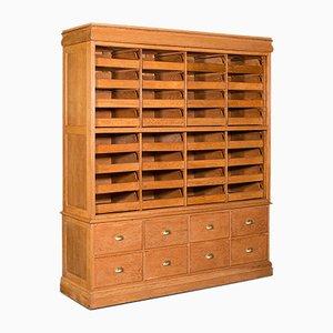 Large Antique Oak Haberdashery Cabinet