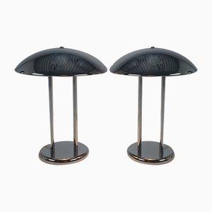 Vintage Chrom Tischlampen, 1970er, 2er Set