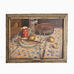 Early 20th Century German Still Life Painting in the Original Frame, 1930s