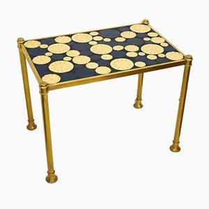 Goldener Metall Couchtisch & Mosaik Tablett