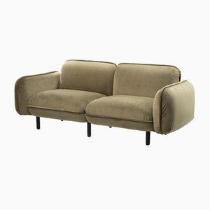 Bean 2-Sitzer Sofa in grünem Velours von Emko