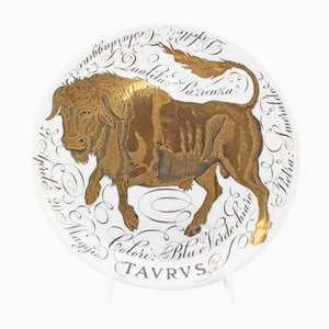 Handbemalte Keramik Sternzeichen Teller von Piero Fornasetti für Atelier Fornasetti, 1968