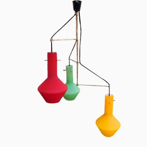 Chandelier with Colored Glasses, 1960s