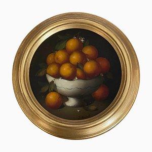 Salvatore Marinelli, Korb mit Orangen, Öl auf Leinwand, Italien