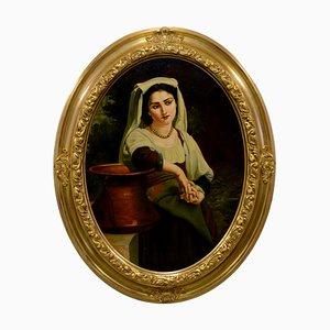 Tommaso Rivoli, Popolana, Oil on Canvas, Italy