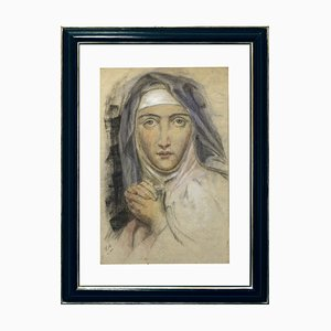 Anonymous, Portrait of a Nun, Pastel on Paper, Italy