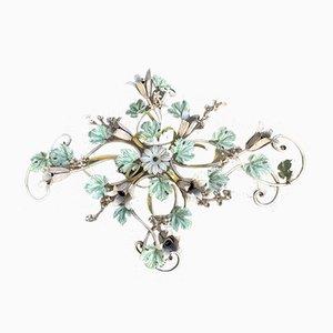 Italienische Große Tole Rebe Blumen Deckenlampe