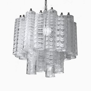 Graffito Murano Glass Chandelier by Ercole Barovier for Barovier & Toso, Italy, 1960s
