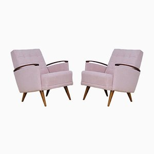 Pink Armchairs, 1960s, Set of 2