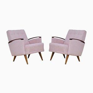 Pinke Sessel, 1960er, 2er Set