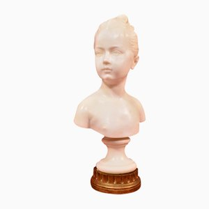 Antique Marble Statue Bust of Louise Brongniart