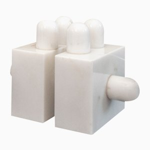 Carrara Marble Modulo Sculpture by Jean Jacques Schnegg for Area Visual Art Research, 1970s