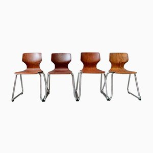 Vintage Chairs from Pagholz Flötotto, Set of 4