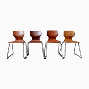 Vintage Stühle von Pagholz Flötotto, 4er Set