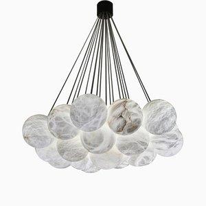 Lámpara de araña Bolky de alabastro de Atelier Alain Ellouz