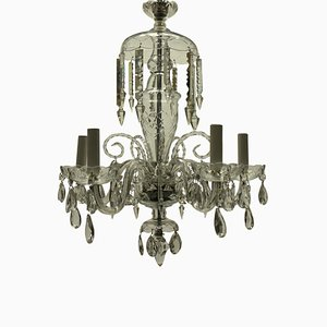 Small English Glass Chandelier